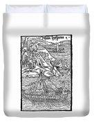 Columbus Hispaniola, 1492 Duvet Cover