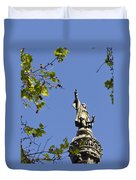Columbus Monument - Barcelona Duvet Cover