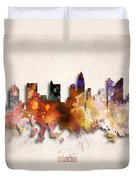 Columbus Painted City Skyline Duvet Cover
