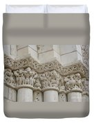 Column Relief Abbey Fontevraud  Duvet Cover