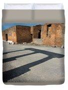 Column Shadows Forum At Pompeii Italy Duvet Cover