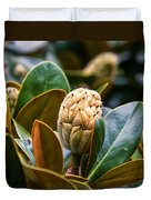 columnar Southern magnolia Duvet Cover