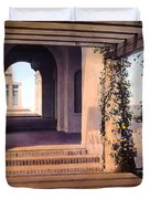Columns And Flowers Duvet Cover by Terry Reynoldson