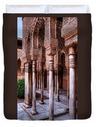 Columns Of The Court Of The Lions Duvet Cover
