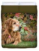 Comanche Autumn - Golden Retriever - Casper Wyoming Duvet Cover