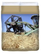 Combine Harvester  Duvet Cover by Shay Fogelman