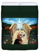 Come Walk With Me Over The Rainbow Bridge Duvet Cover