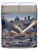 Comerica Park Asteroid Duvet Cover