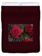 Comic Book Roses Duvet Cover