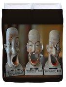 Comical Singing Ashtrays Duvet Cover