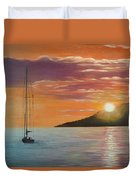Coming Home English Bay Duvet Cover