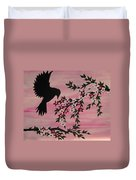 Coming Home To Roost Duvet Cover by Cathy Jacobs