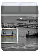 Coming In To Dock Duvet Cover
