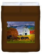 Coming To The Barn Duvet Cover