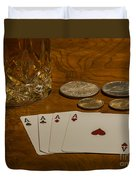 Coming Up Aces Duvet Cover