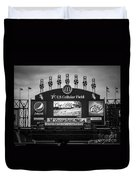 Comiskey Park U.s. Cellular Field Scoreboard In Chicago Duvet Cover by Paul Velgos