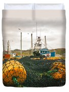 Commercial Fishing In The North Atlantic Duvet Cover