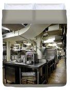 Commercial Kitchen Aboard Battleship Duvet Cover