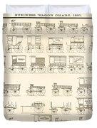 Commercial Wagons  1881 Duvet Cover