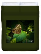 Common Blue Morpho Moth Duvet Cover