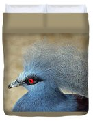 Common Crowned Pigeon Duvet Cover