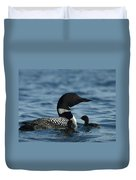 Common Loon Family Duvet Cover
