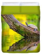 Common Map Turtle Duvet Cover
