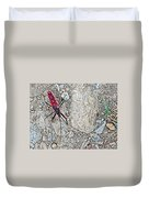 Common Red Bug Along The Seti River Road-nepal  Duvet Cover