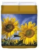 Common Sunflower Field Duvet Cover