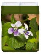 Common Violet Duvet Cover