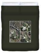 Common Yarrow Collage Duvet Cover