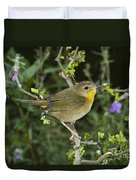 Common Yellowthroat Hen Duvet Cover
