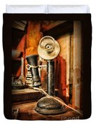 Communication - Candlestick Phone Duvet Cover