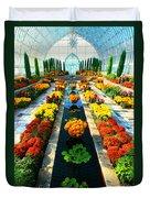 Como Conservatory's Fall Display. St Paul Minnesota. Duvet Cover