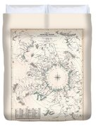 Comparative Map Or Chart Of The Worlds Great Rivers Duvet Cover
