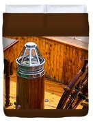 Compass And Bright Work Old Sailboat Duvet Cover
