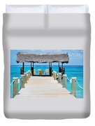Tranquility At Compass Point, Nassau, Bahamas Duvet Cover
