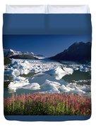 Composite View Of Colony Glacier W Duvet Cover