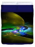 Computer Generated Planet Sphere Abstract Fractal Flame Modern Art Duvet Cover