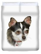 Computer Generated Portrait Of A Dog Duvet Cover