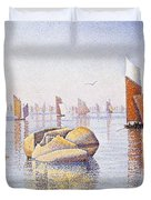 Concarneau   Quiet Morning Duvet Cover by Paul Signac