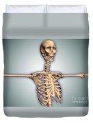 Conceptual Image Of Human Rib Cage Duvet Cover