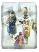 Concert In The Snow Duvet Cover