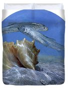 Conch And Ladyfish, 2001 Pair Duvet Cover