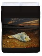 Conch Shell And Pier Predawn 2 10/18 Duvet Cover