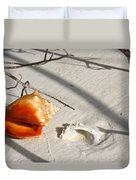 Conch With Shell In Sand I Duvet Cover