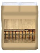 Concrete Wall And Water 1 Duvet Cover