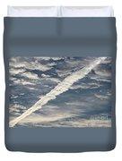 Condensation Trails - Contrails - Airplane Duvet Cover