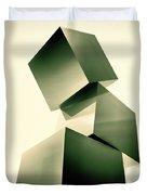 Condescending Cubes Duvet Cover by Bob Orsillo