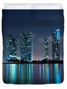 Condominium Buildings In Miami Duvet Cover